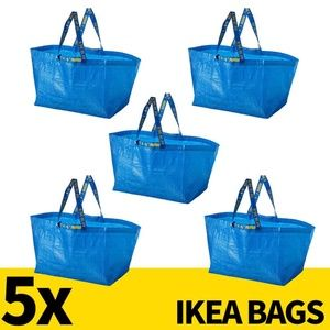 LOT OF 5 Ikea Bags Large 71L Nylon Tote Shopping